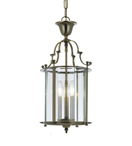 Crystorama Camden 3 Light Foyer Lantern in Antique Brass 943-AB photo