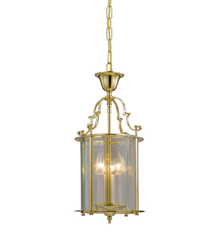 Crystorama Lighting Camden 3 Light Hanging Lantern in Polished Brass 943-PB photo