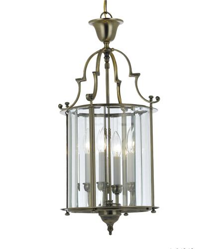 Vintage Foyer Lighting : Crystorama camden light foyer lantern in antique brass