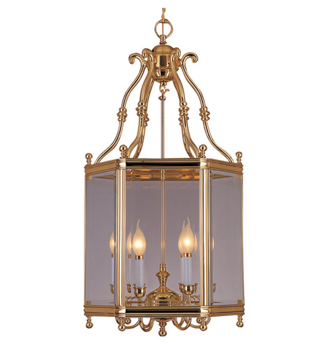 Crystorama Windsor 6 Light Foyer Lantern in Polished Brass 948-PB photo