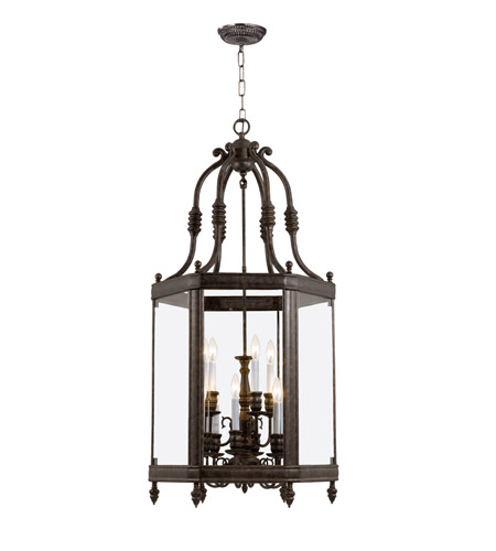 Crystorama Windsor 9 Light Hanging Lantern in Venetian Bronze 949-VB photo