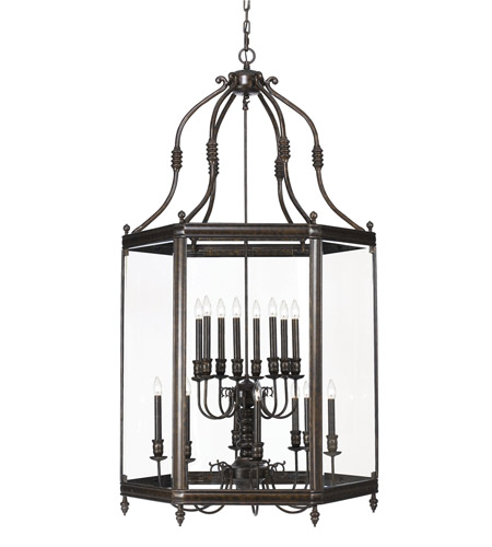 Crystorama Windsor 16 Light Foyer Lantern in Venetian Bronze 950-VB photo