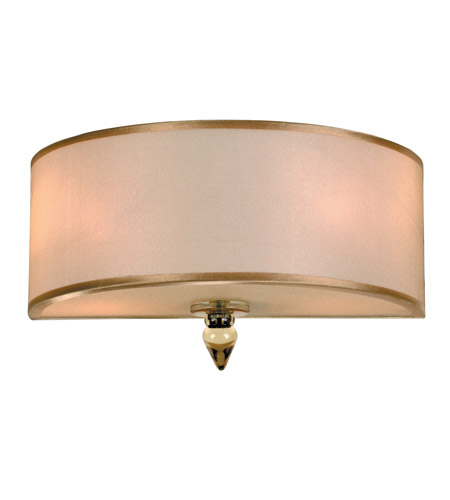 Crystorama Luxo 2 Light Wall Sconce in Antique Brass 9502-AB photo