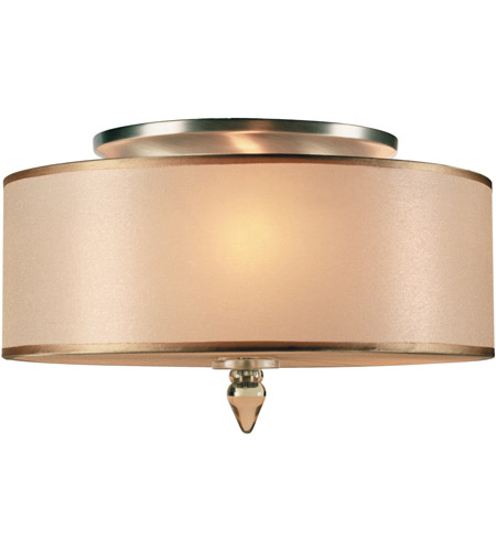 Crystorama 9503-AB Luxo 3 Light 14 inch Antique Brass Flush Mount Ceiling Light in Antique Brass (AB) photo