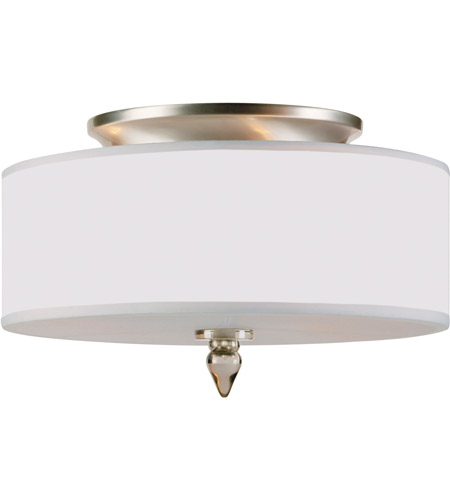 Crystorama 9503-SN Luxo 3 Light 14 inch Satin Nickel Flush Mount Ceiling Light in Satin Nickel (SN) photo