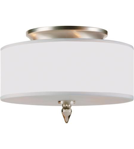 Crystorama 9503 Sn Luxo 3 Light 14 Inch Satin Nickel Flush Mount Ceiling In