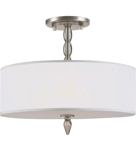 Crystorama 9505-SN Luxo 3 Light 18 inch Satin Nickel Chandelier Ceiling Light in Satin Nickel (SN) photo