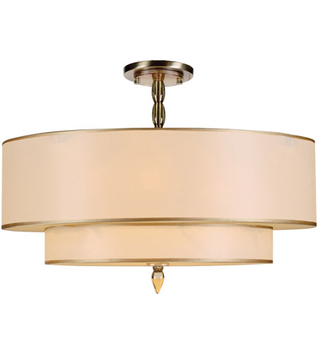 Crystorama 9507-AB_CEILING Luxo 5 Light 26 inch Antique Brass Semi Flush Mount Ceiling Light in Antique Brass (AB)  photo