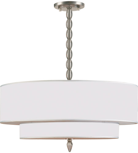 Crystorama 9507-SN Luxo 5 Light 26 inch Satin Nickel Chandelier Ceiling Light in Satin Nickel (SN) photo