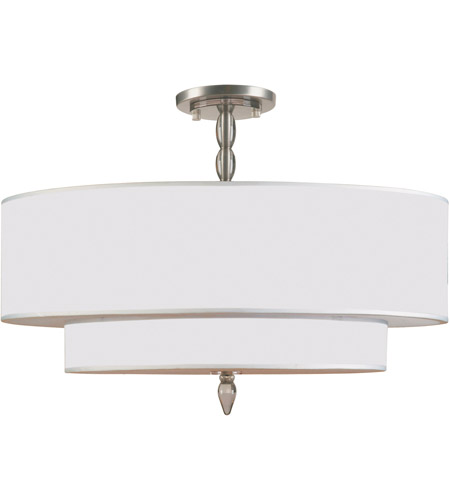 Crystorama 9507-SN_CEILING Luxo 5 Light 26 inch Satin Nickel Semi Flush Mount Ceiling Light in Satin Nickel (SN) photo