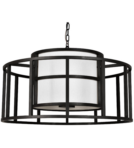 Crystorama 9595 MK Hulton 5 Light 25 Inch Matte Black Chandelier Ceiling Brian
