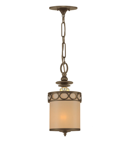 Crystorama Eclipse 1 Light Pendant in Antique Brass 9600-AB