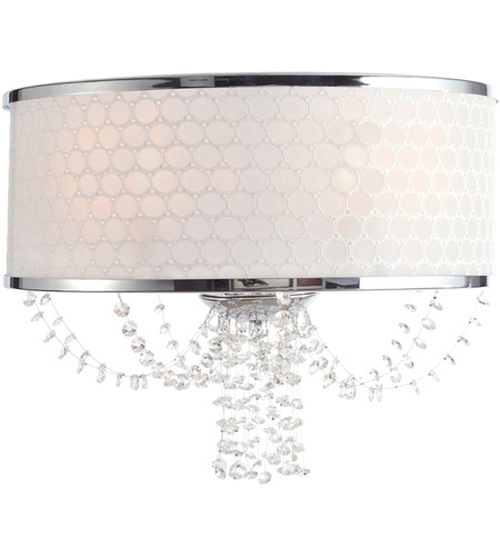Crystorama Allure 2 Light Wall Sconce in Polished Chrome with Hand Cut Crystals 9802-CH