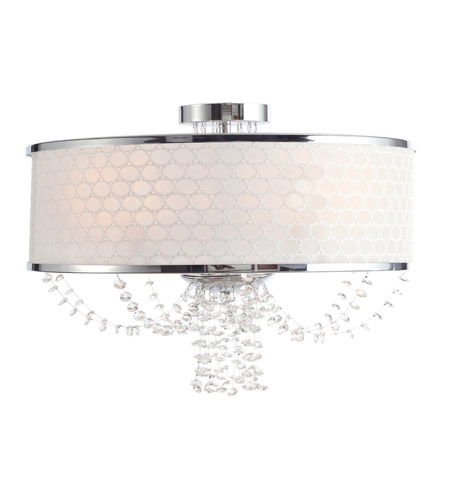 Crystorama Allure 5 Light Chandelier in Chrome with Hand Polished Crystals 9803-CH