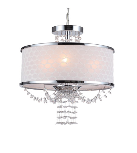 Crystorama Allure 3 Light Chandelier in Polished Chrome 9804-CH