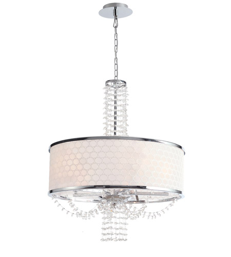 Crystorama 9805-CH Allure 5 Light 20 inch Chrome Chandelier Ceiling Light in Hand Cut, Chrome (CH) photo