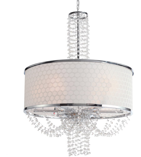 Crystorama Allure 6 Light Chandelier in Chrome with Hand Polished Crystals 9806-CH