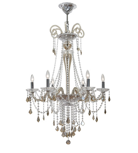Crystorama Simone 6 Light Chandelier in Polished Chrome 9838-CH-CG photo