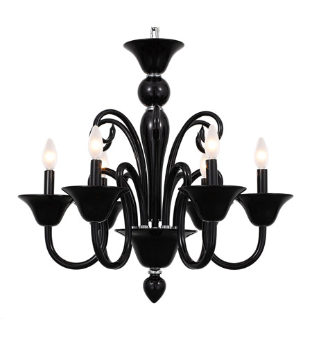 Crystorama 9886 BK Envogue 6 Light 24 Inch Black Chandelier Ceiling Photo