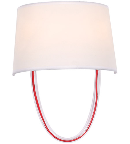 Crystorama 9902-RD-CL Stella 2 Light 10 inch Polished Chrome and Red Cord Wall Sconce Wall Light photo