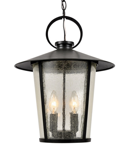 Crystorama AND-9204-SD-MK Andover 4 Light 14 inch Matte Black Outdoor Chandelier photo