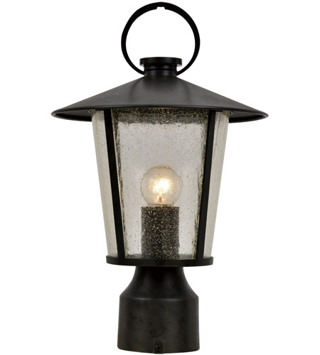 Crystorama AND-9207-SD-MK Andover 1 Light 15 inch Matte Black Outdoor Lantern Post photo