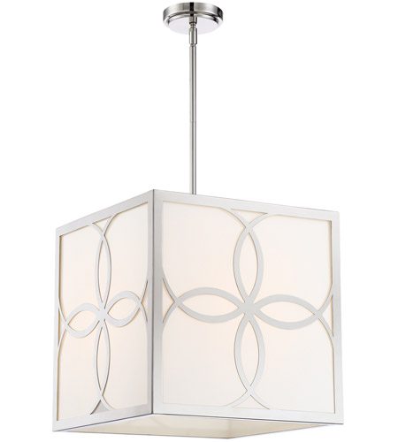 Crystorama ANN-2104-PN Anniversary 4 Light 16 inch Polished Nickel Chandelier Ceiling Light photo