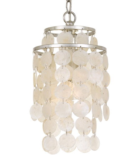 Crystorama BRI-3000-SA Brielle 1 Light 7 inch Antique Silver Mini Chandelier Ceiling Light photo
