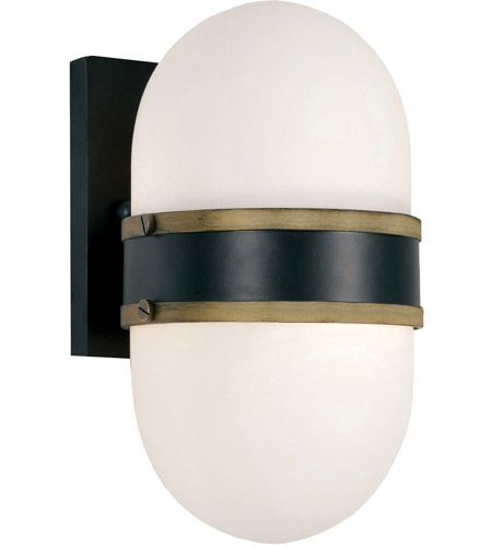 Crystorama CAP-8501-MK-TG Capsule 1 Light 10 inch Matte Black Outdoor Wall Mount, Brian Patrick Flynn photo