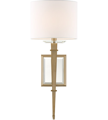 Crystorama CLI-231-AG Clifton 1 Light 8 inch Aged Brass Wall Sconce Wall Light in Aged Brass (AG) photo