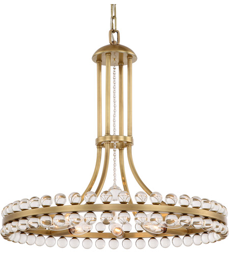 Crystorama CLO-8898-AG Clover 8 Light 23 inch Aged Brass Chandelier Ceiling Light in Aged Brass (AG) photo