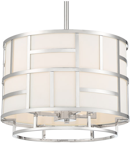 Crystorama DAN-404-PN Danielson 4 Light 17 inch Polished Nickel Chandelier Ceiling Light photo