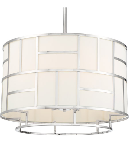 Crystorama DAN-406-PN Danielson 6 Light 25 inch Polished Nickel Chandelier Ceiling Light in Polished Nickel (PN) photo