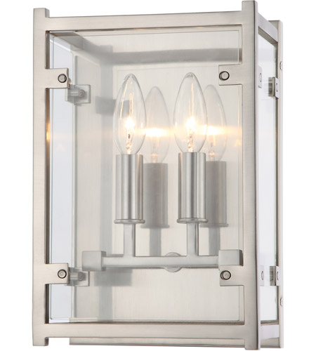 Crystorama DAN-8792-BN Danbury 2 Light 8 inch Brushed Nickel Wall Sconce Wall Light photo