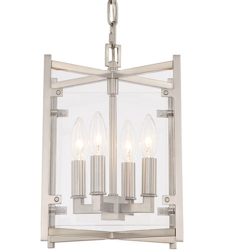 Crystorama DAN-8794-BN Danbury 4 Light 9 inch Brushed Nickel Chandelier Ceiling Light photo