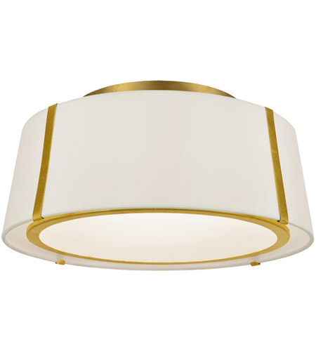Crystorama FUL-905-GA Fulton 3 Light 18 inch Antique Gold Semi Flush Mount Ceiling Light photo