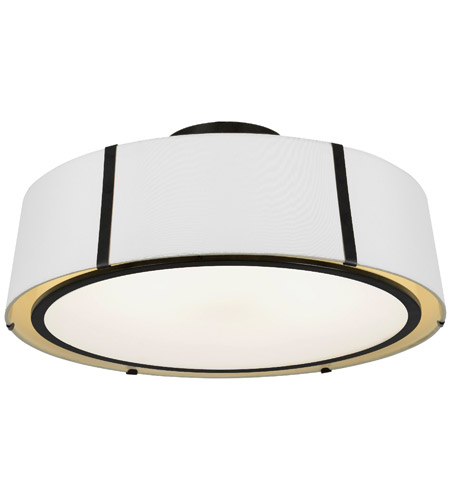 Crystorama FUL-907-BK_CEILING Fulton 6 Light 24 inch Matte Black Semi Flush Mount Ceiling Light photo