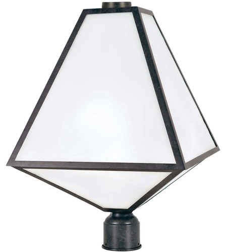 Crystorama GLA-9709-OP-BC Glacier 3 Light 21 inch Black Charcoal Outdoor Lantern Post in Opal Frosted photo