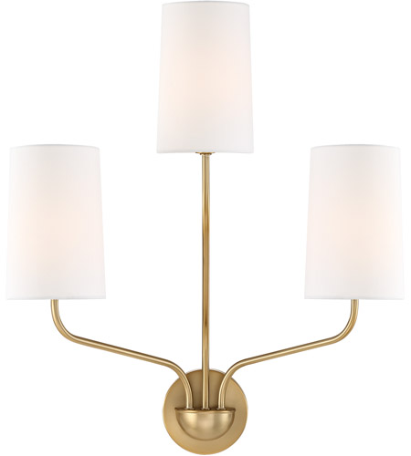 Crystorama Aged Brass Wall Sconces