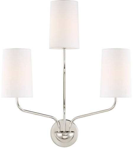 Crystorama LEI-203-PN Leigh 3 Light 16 inch Polished Nickel Wall Sconce Wall Light in Polished Nickel (PN) photo