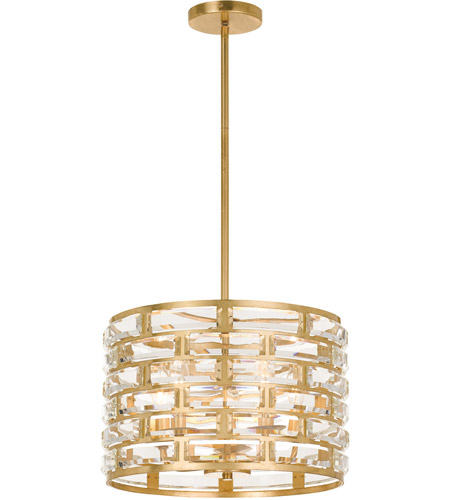 Exceptionnel Crystorama MER 4865 GA Meridian 5 Light 15 Inch Antique Gold Chandelier  Ceiling Light