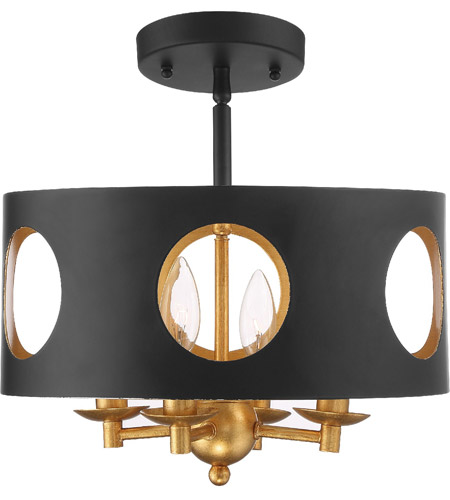 Matte Gold Semi-Flush Mounts