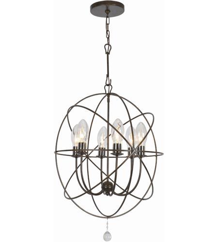 Crystorama sol 9326 eb solaris 6 light 23 inch english bronze outdoor chandelier