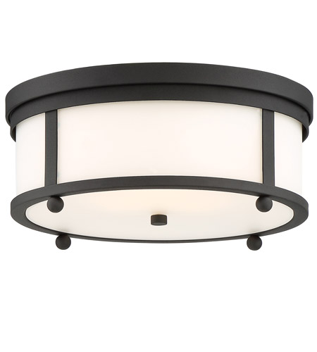 Crystorama syl 2283 bf sylvan 3 light 15 inch black forged outdoor ceiling mount