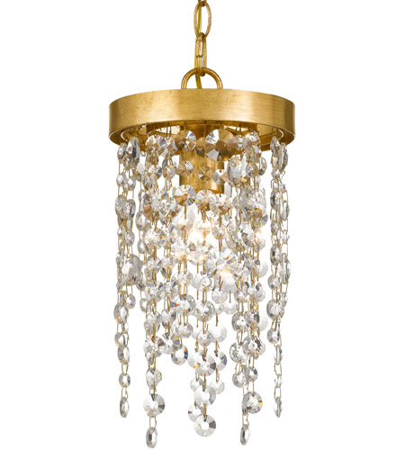 Crystorama WIN-610-GA-CL-MWP Windham 1 Light 7 inch Antique Gold Pendant Ceiling Light photo