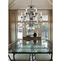 Crystorama Ashton 9 Light Chandelier in English Bronze 5019-EB-CL-MWP alternative photo thumbnail