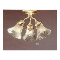 Crystorama 100155-PB Signature 3 Light 14 inch Polished Brass Flush Mount Ceiling Light