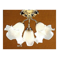 Signature 3 Light 14 inch Gold Flush Mount Ceiling Light