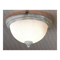 Signature 3 Light 16 inch Blue Flush Mount Ceiling Light