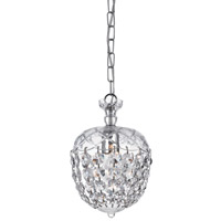 Signature 1 Light 8 inch Polished Chrome Pendant Ceiling Light